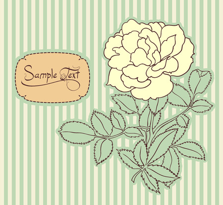 toned: vintage stripped floral card