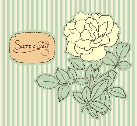 vintage stripped floral card