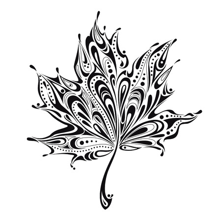 maple leaf: beautiful abstract leaf