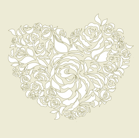 shaped: wedding heart Illustration