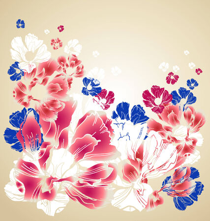 womanish: abstract floral background Illustration