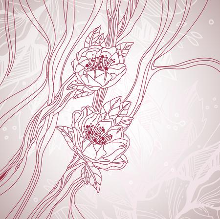 amande: carte de mariage Illustration