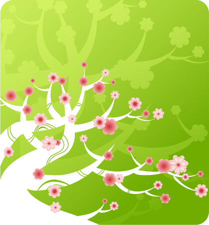 spring tree green banner Stock Vector - 7860159