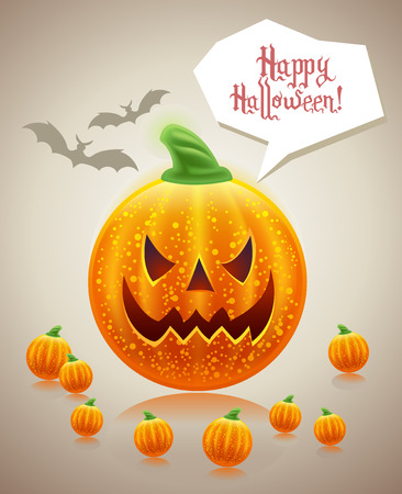 halloween holiday greeting card  Vector