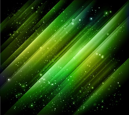 borealis: abstract green lights Stock Photo