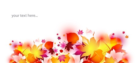 footer: autumn background for header, footer, or banner Stock Photo