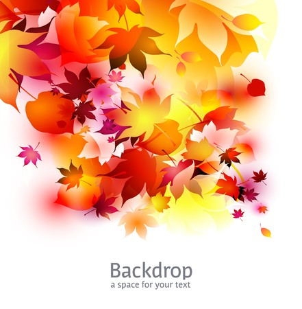 autumn background - white and red Stock Photo - 7991884