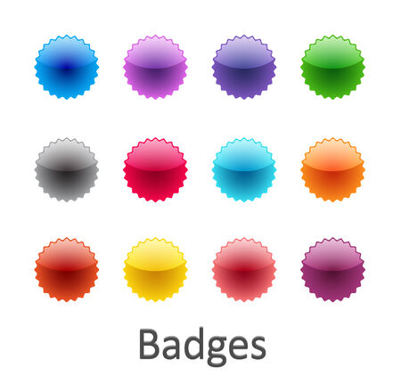 stiker: Colorful glossy badges