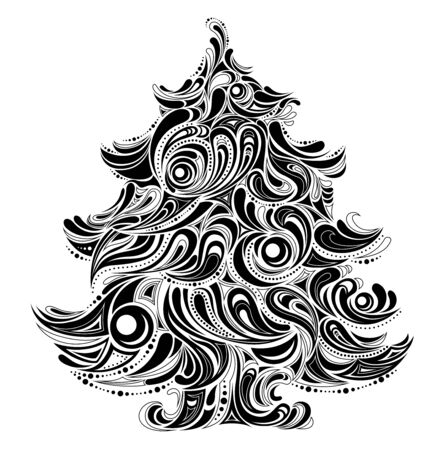 christmas tree creative silhouette Vector