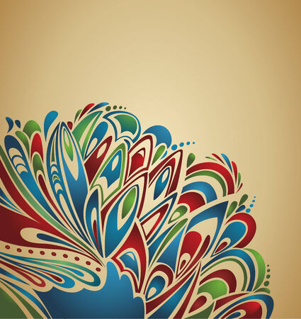 abstract thanksgiving background with stylized turkey tail - country grunge style Illustration