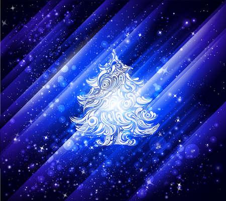 blue christmas wallpaper background Stock Photo - 8405975