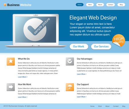 blue business website Vector