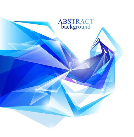 footer: Blue background from geometric shapes Stock Photo