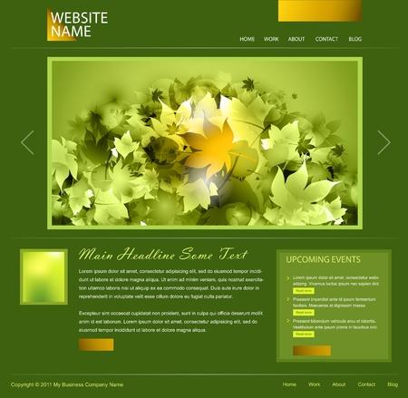 web side: dise�o de sitio Web verde Foto de archivo