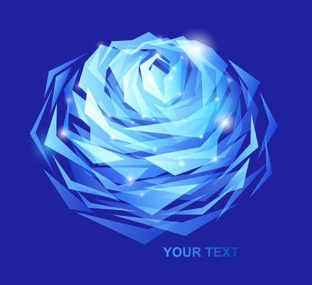 blue rose abstract background photo