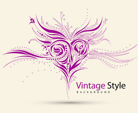 abstract grunge heart design Stock Vector - 9082003