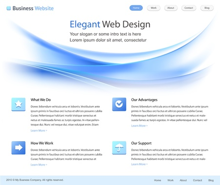 elegant web site design template Stock Photo - 9082016