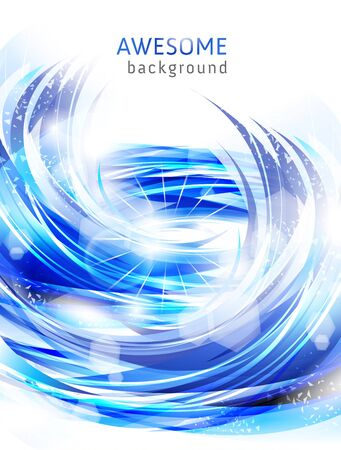 abstract blue backgrounds with water splash photo