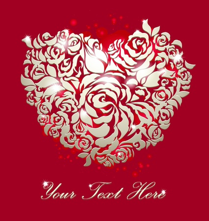 love red greeting card photo