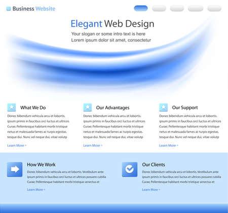 Elegant web site design template Stock Photo - 9082042