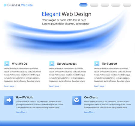 Elegant web site design template Stock Photo - 9082042