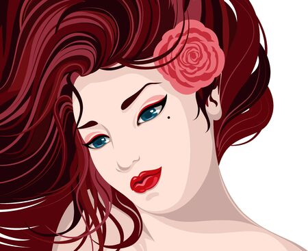 beautiful woman illustration illustration