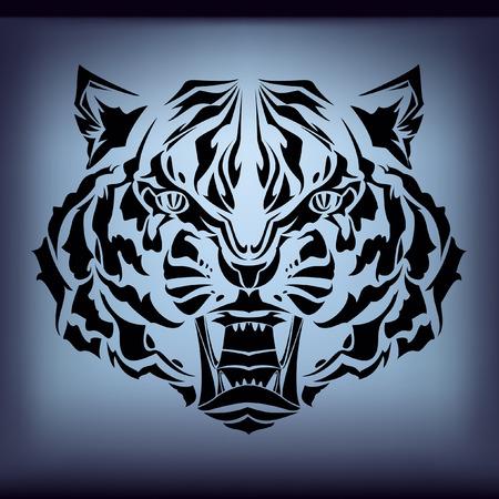 tattoo tiger  Vector