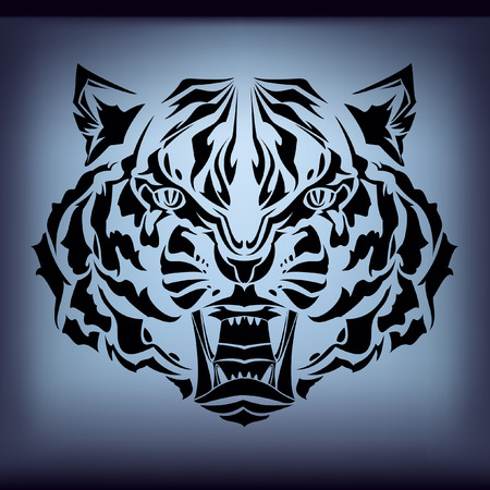 tattoo tiger  Vector