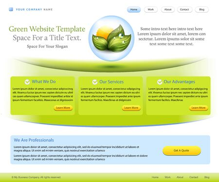website template for healthcare, pharmacy or medical company Vector