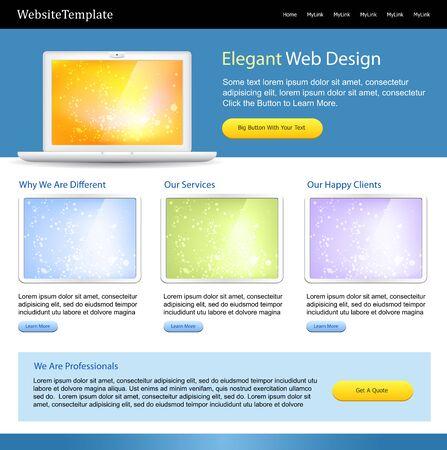 editable web site template - positive color scheme Vector