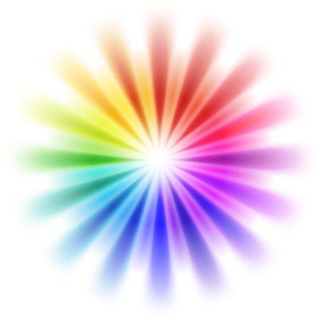 abstracte regenboog achtergrond Stock Illustratie