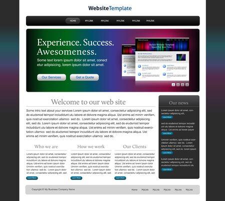 Vector website design template Stock Vector - 9294157
