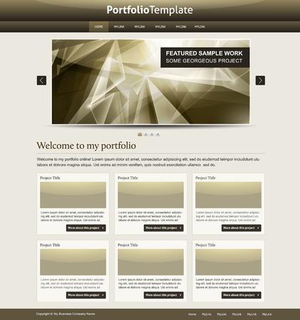 modern portfolio web design Vector