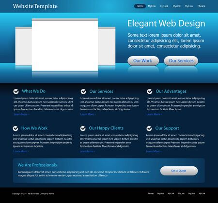 abstract template: blue web site template Illustration
