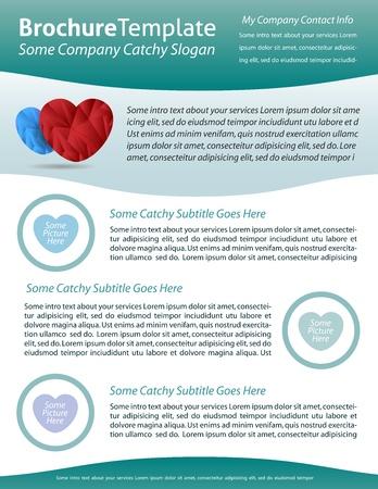 folleto: Plantilla de folleto para la empresa de atenci�n de la salud