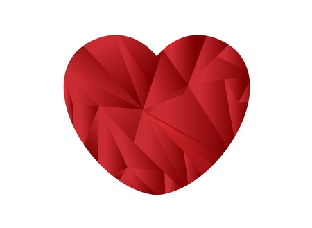 Japan flag heart shaped origami Stock Vector - 9520064
