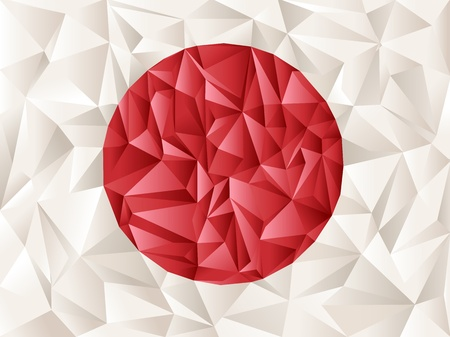 japanese flag: japan flag origami creative idea - great background for social designs Illustration