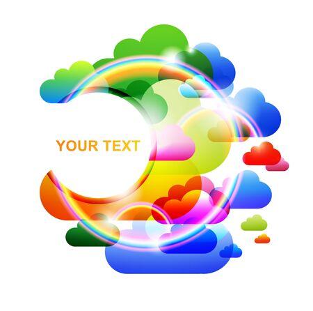 colorful bubble cloud speech Stock Vector - 9535739