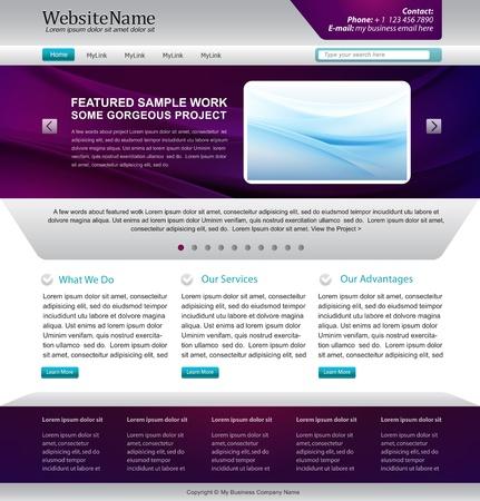 website sjabloonontwerp - metallische, paars kleuren