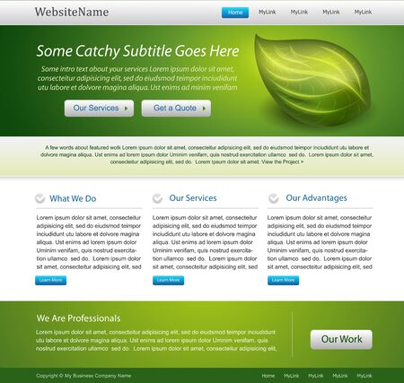 home product: green website nature template