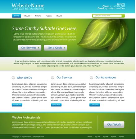 front page: website nature template design