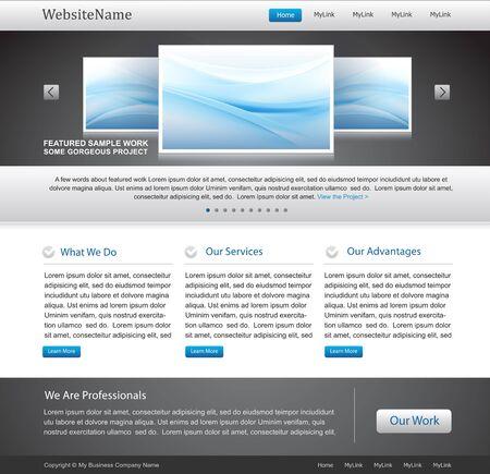 Business website sjabloon Stock Illustratie