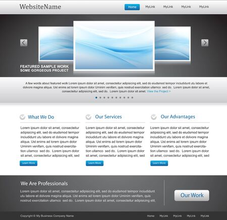 page layout: business website template
