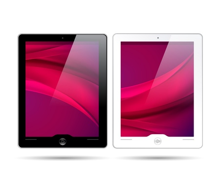 touchscreen tablets - black and white colors Vector