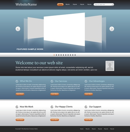 web page: modern website design layout editable template