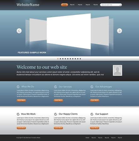 plantilla de sitio web: plantilla editables de dise�o web moderno dise�o