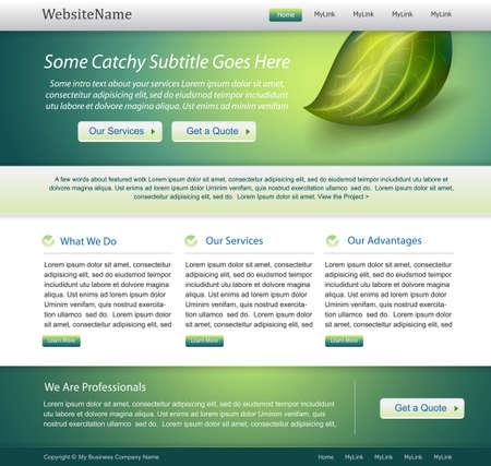 web side: dise�o de plantilla editables de Web verde
