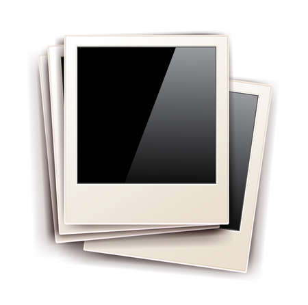 old photo frames isolated on white background