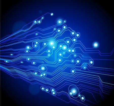 circuitos electronicos: fondo abstracto alta tecnolog�a - vector est� disponible