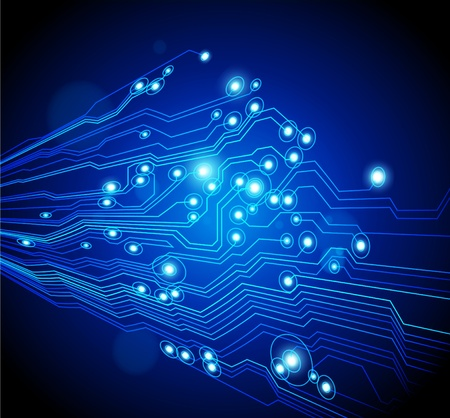 circuitboard: High-tech astratto - vettore � disponibile Vettoriali
